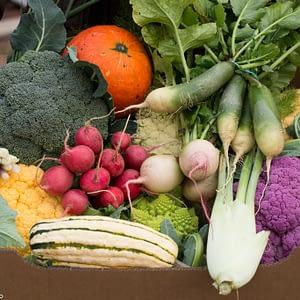 Coș de legume cu abonament lunar