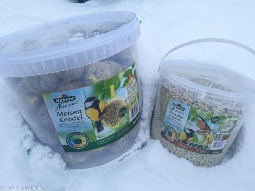 Hrană pentru hrănirea păsărilor pe timpul iernii